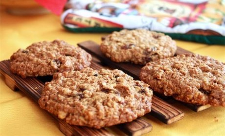 Песочно-овсяное печенье с отрубями и орехами