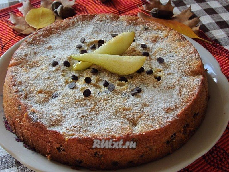 Пирог с грушами и шоколадом (рецепт с фото) | RUtxt.ru