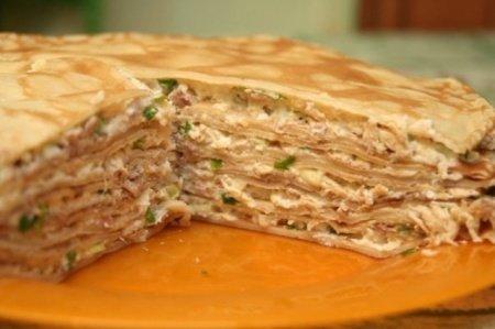 Рецепт блинчатого пирога