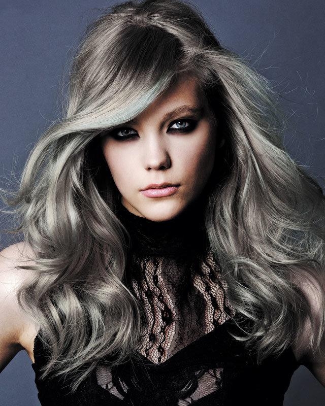 Серый цвет волос кудрявый