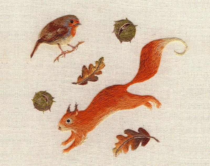 Вышивка гладью миниатюрных животных — Рукоделие