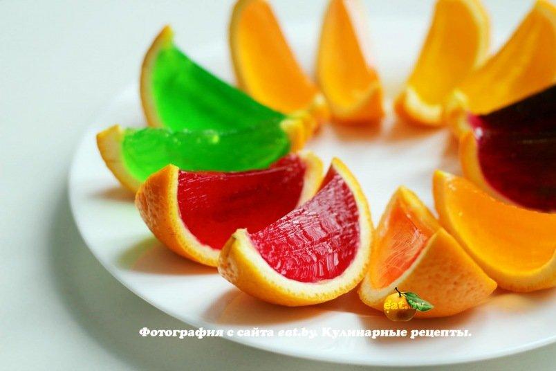 Желе в апельсинах - рецепт, фото, как приготовить вкусно, быстро и просто   eat.by