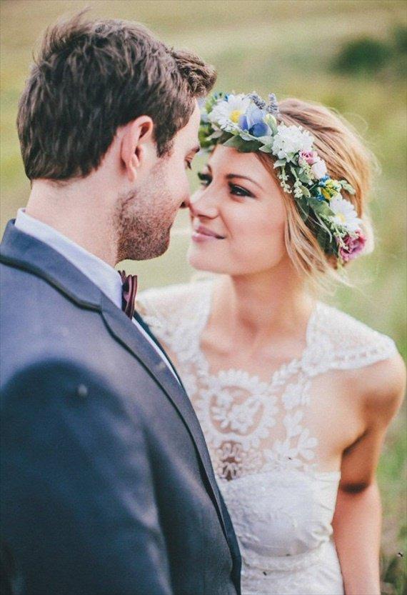 3 совета, как правильно носить свадебный венок