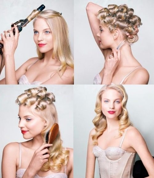 как завить волосы голливудскими волнами
