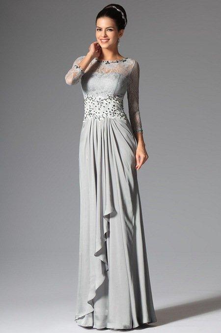 Кружевное вечернее платье 2015 для матери невесты
