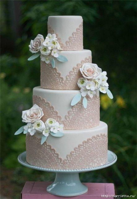 Невероятно красивые свадебные торты