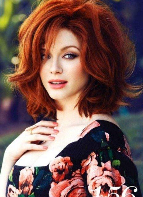 Рыжий цвет волос. Палитра оттенков на 30 фото.