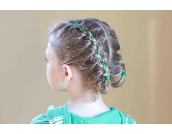 Школьные причёски на длинные волосы. Фото №2