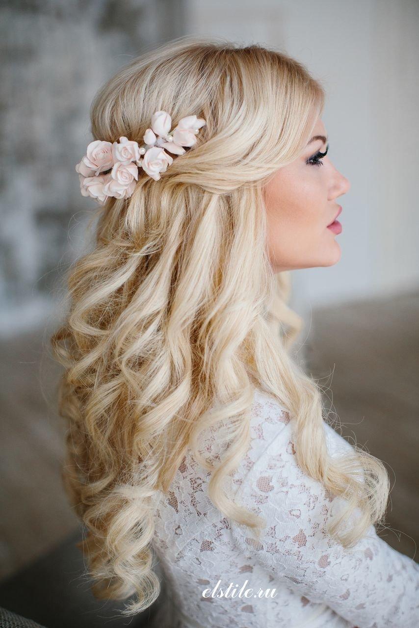 Свадебные прически на длинные волосы - большой простор для фантазии стилиста и самой невесты.