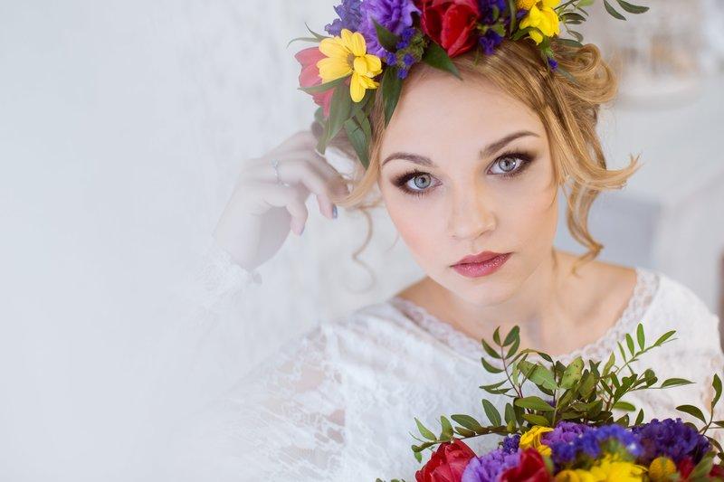 Венок из цветов на свадьбу | Свадебное оформление и декор в Дмитрове - BunnyBride