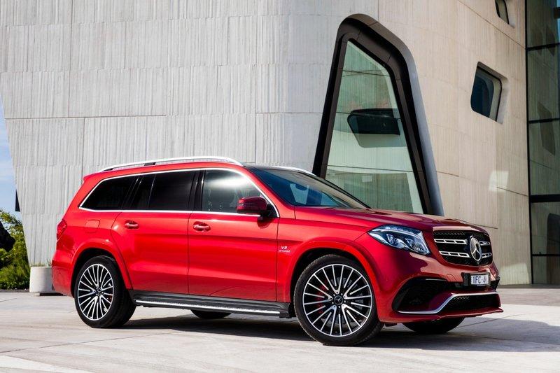 Скачать бесплатно фото обои на тему Mercedes-Benz AMG GLS-Class X166 Красный Сбоку Автомобили на ваш рабочий стол Картинка #497478 для рабочего стола