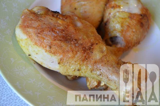 Вкусные окорочка на сковороде рецепт с фото