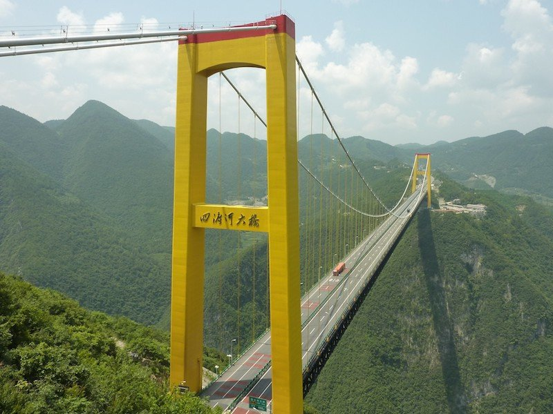 Мост через долину реки Сыдухэ