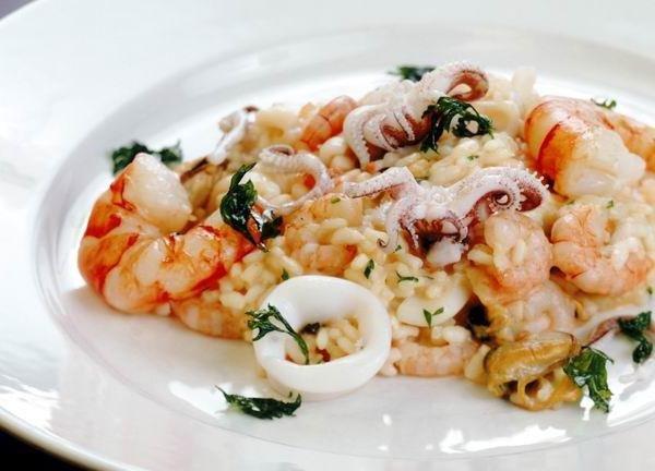 Ризотто с морепродуктами рецепт с фото пошаговый