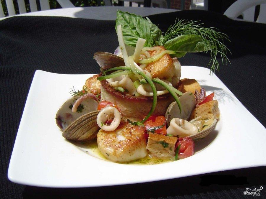 рецепты блюд с консервированным морским гребешком
