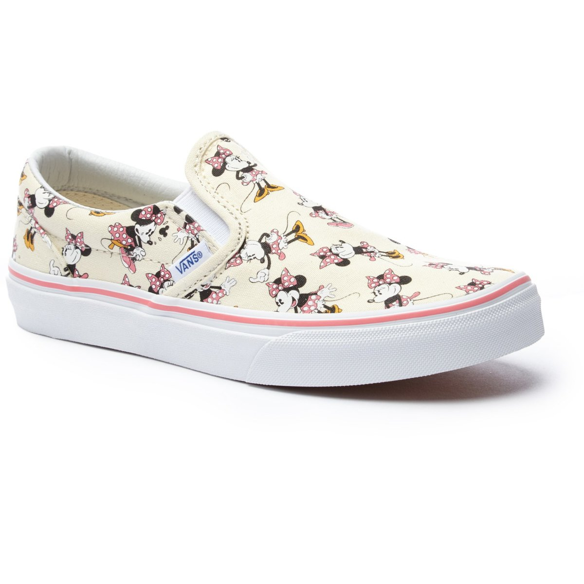 vans classic slip on shoes girl s disney minnie mouse classic white ... 068aa62d3