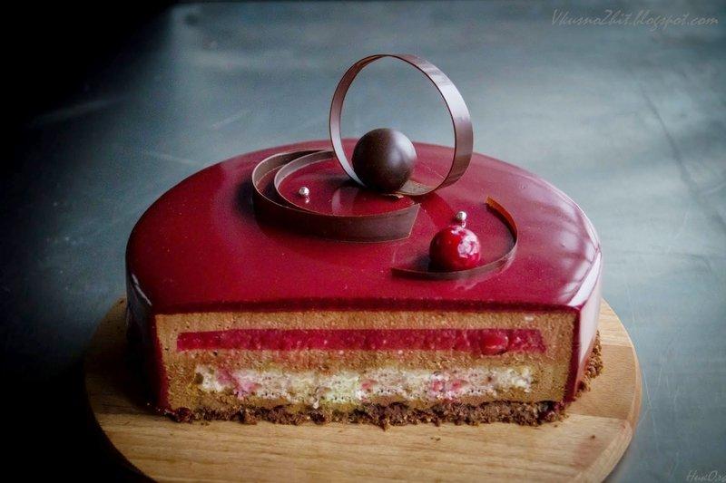красная глазурь для торта рецепт с фото
