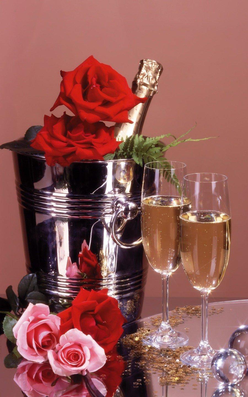 Открытки конфеты с шампанским