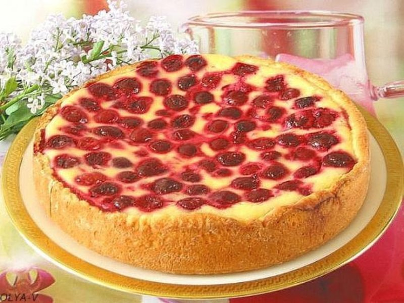 Открытый пирог с ягодами рецепт с фото