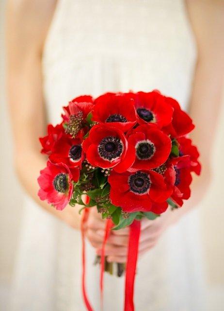 Букет невесты с маками #14