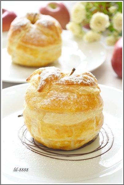 Яблоки в слоеном тесте. рецепт с фотографиями