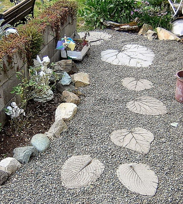 дорожки в саду своими руками из цемента