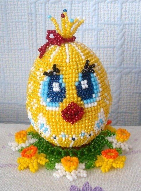 яйца из бисера своими руками, Цыпленок милашка