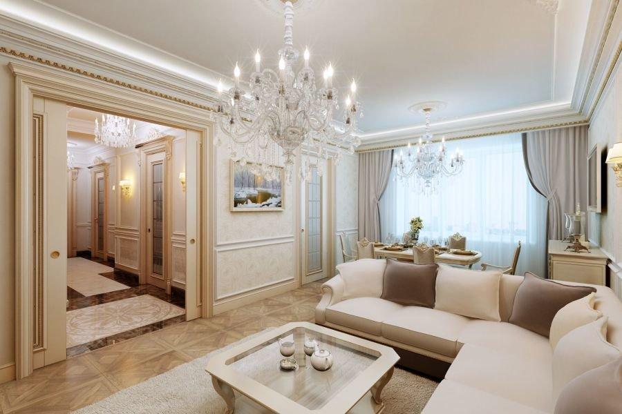подарить память классический интерьер квартиры в светлых тонах тому