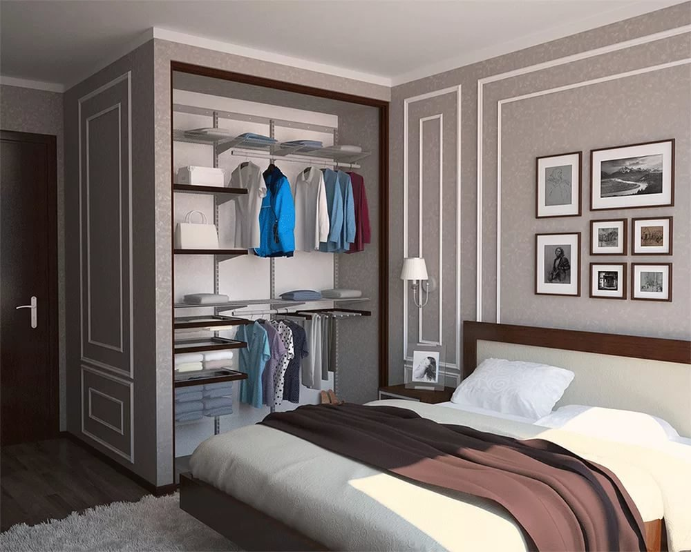 Шкаф-купе в спальню - лучшее решение, если нет возможности о.