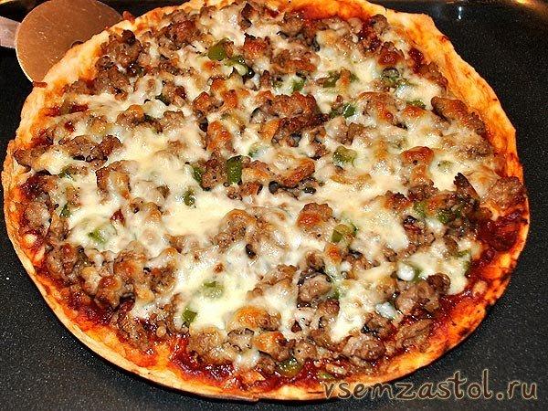 Домашняя пицца с фаршем рецепт с фото