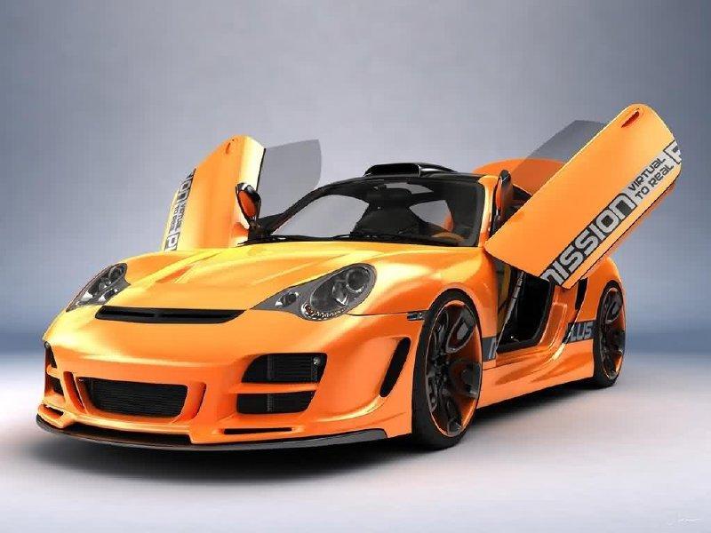 Porsche 911 с тюнингом.