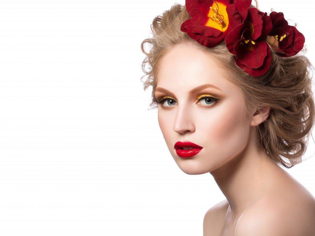 Где, картинка девушка с цветком на лице