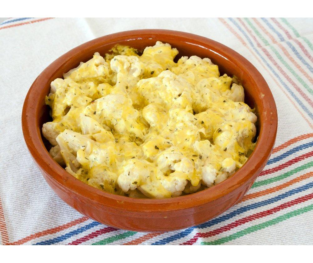 цветная капуста с сыром и сметаной