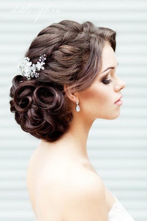 свадебные причёски с украшениями фото
