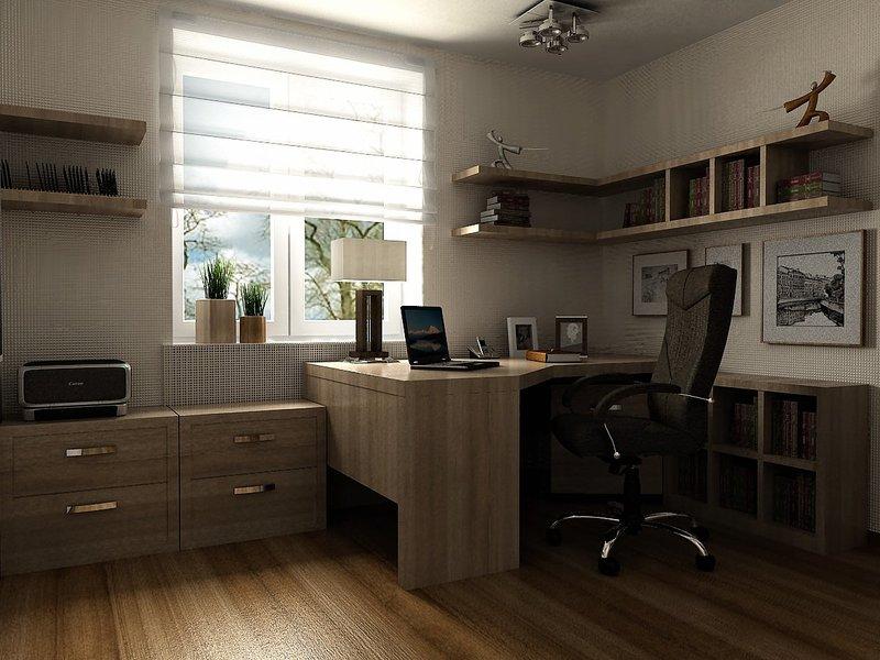 Современный дизайн домашнего кабинета, очень привлекательно