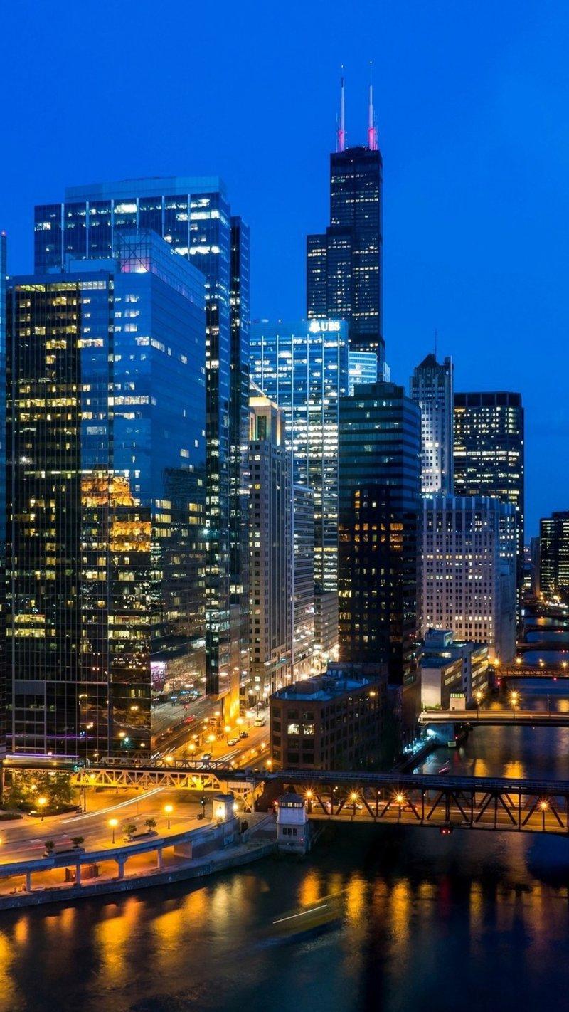 Мосты, пейзажы, Чикаго