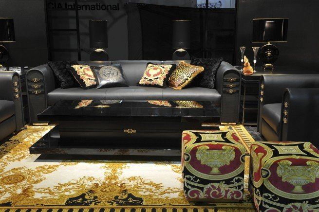 This article show some Living Room Trends: Versace Home, an Italian luxury brand.