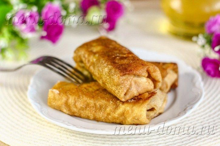 Блинчики с мясом пошаговый рецепт с фото