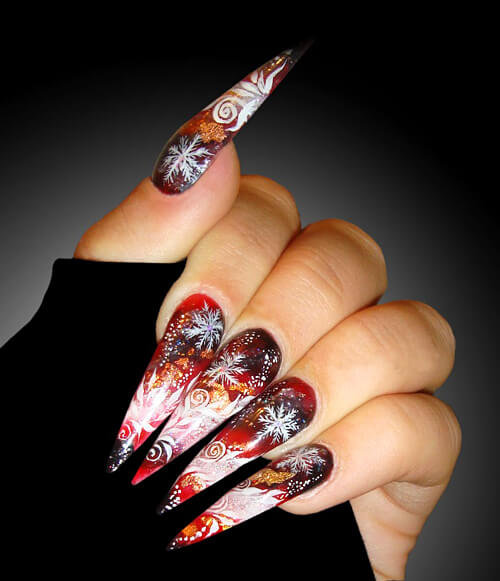 Длинные ногти галереи фото 754-2