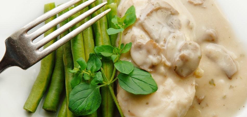 Сливочно грибной соус для мяса