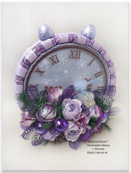 Часы с конфет своими руками 21