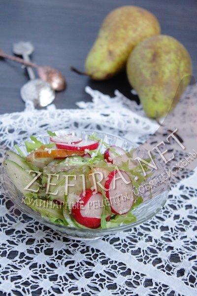 Рецепт салата простой из редиски