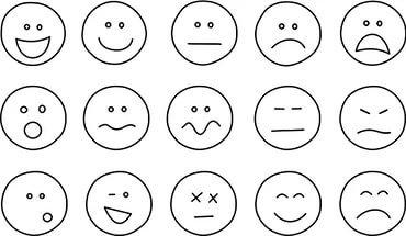 """Результаты поиска по запросу """"анимированные изображения эмоций"""" в Яндекс.Картинках"""