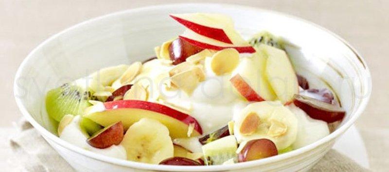 Фруктовый салат йогуртом от Юлии Бабушкиной