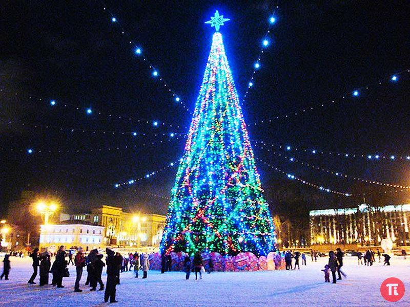 Белая Русь. Новый год на улицах Минска