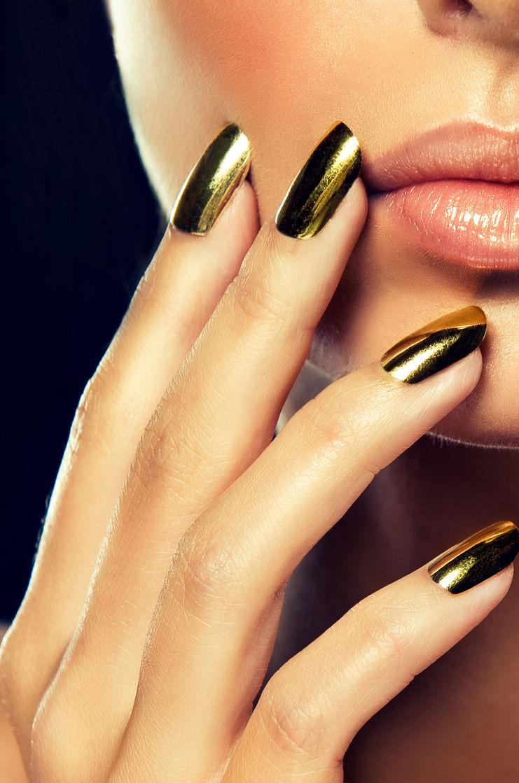 ногти фото золото