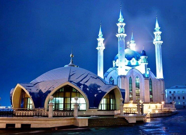 Мечеть в снегу