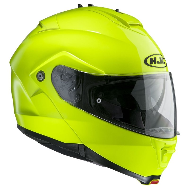 HJC IS-MAX II Fluorescent Green шлем модуляр