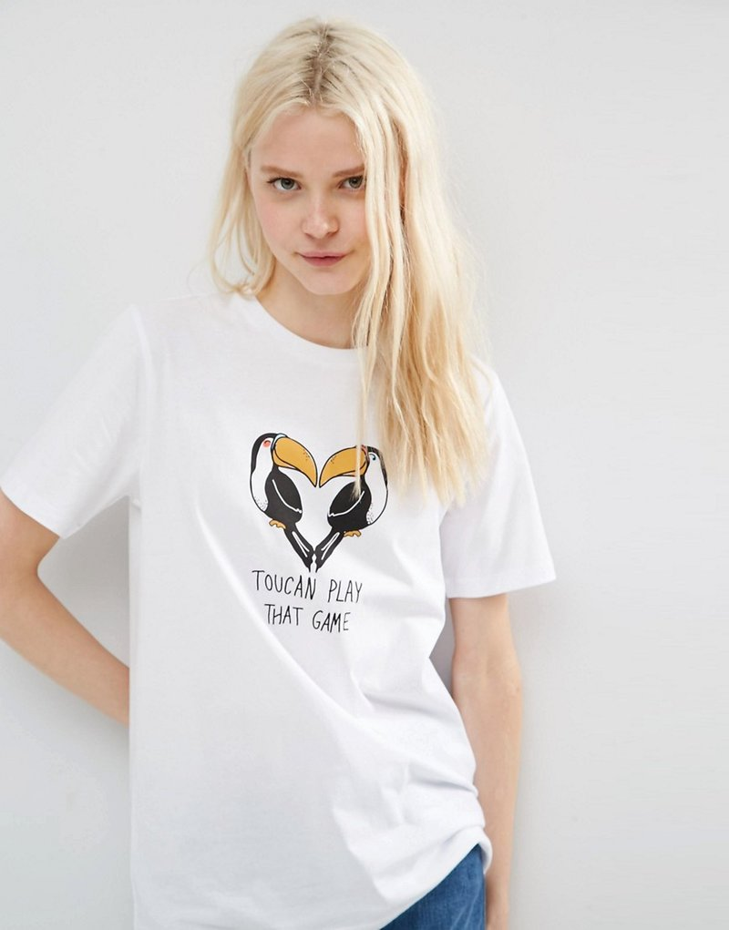 Image 3 of ASOS T-Shirt With Toucan Print