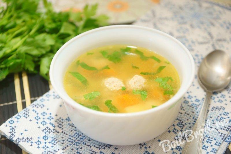 Суп с чечевицей и фрикадельками